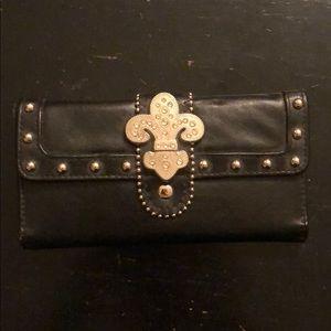 Women's black studded Wallet
